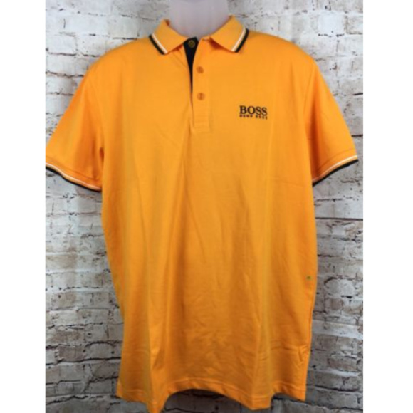 87c71f15 Hugo Boss Shirts | Boss Hugo Mens Shirt Nwt Orange Polo Nwt | Poshmark